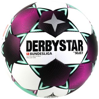 DERBYSTAR - Official Bundesliga Fußball Brillant APS weiß magenta mint