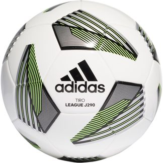 adidas - Tiro League Junior 290 Fußball white black silver metallic team solar green