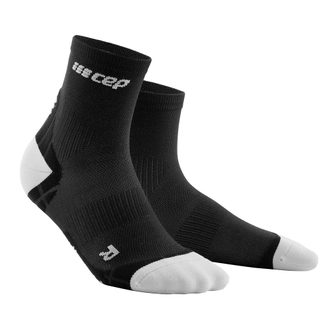 CEP - Ultralight Short Kompression Socken Damen schwarz hellgrau