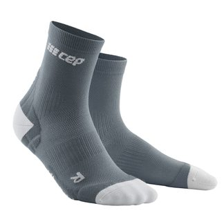 CEP - Ultralight Short Kompression Socken Herren grau hellgrau