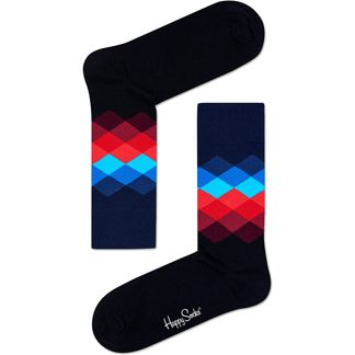 Happy Socks - Faded Diamond Sock Unisex schwarz