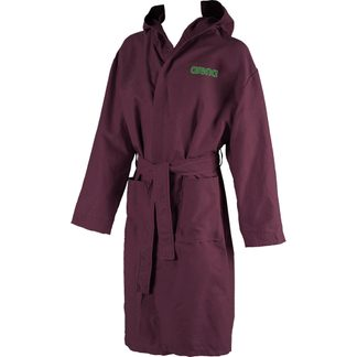Arena - Zeal Bathrobe red wine shiny green