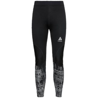 Odlo - Zeroweight Warm Reflective Tights Men black reflective graphic
