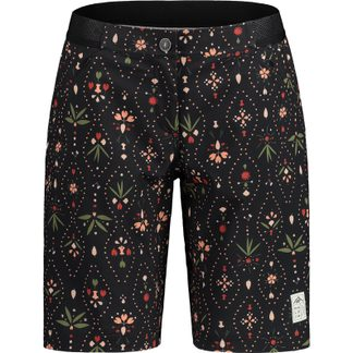 Maloja - AnemonaM. Printed Bike Shorts Damen moonless woodpieces