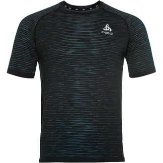 Odlo - Blackcomb Ceramicool Running T-Shirt Men black space dye
