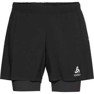 Odlo - 2-in-1 Zeroweight 5 Inch Shorts Men black