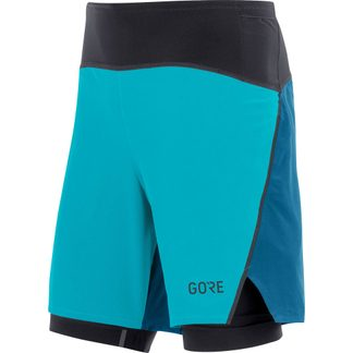 GORE® Wear - R7 2in1 Shorts Men scuba blue sphere blue
