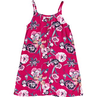 Roxy - Exotic Night Strappy Dress Girls cerise pansies