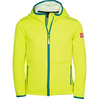 Trollkids - Sogndal Fleece Jacket Kids lime petrol