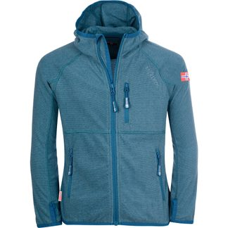 Trollkids - Sandefjord Fleece Jacket Kids dolphin blue petrol