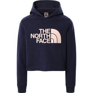The North Face® - Drew Peak Cropped Hoodie Girls navy