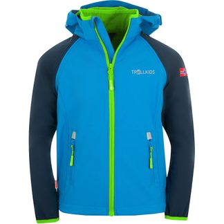 Trollkids - Rondane XT Zip Off Softshelljacke Kids navy med blue green