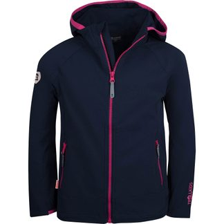 Trollkids - Kvalvika Softshell Jacket Girls navy magenta