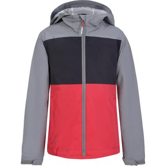 Icepeak - Keller JR Rain Jacket Girls grey hot pink