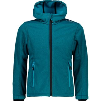 CMP - Fix Hood Softshell Jacket Kids curacao mel