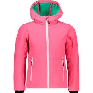 CMP - Fix Hood Softshell Jacket Kids fuxia fluo