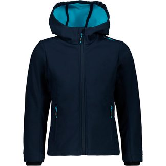CMP - Fix Hood Softshell Jacket Kids blue turchese