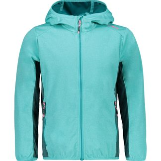 CMP - Light Softshell Jacket Kids turquoise melange