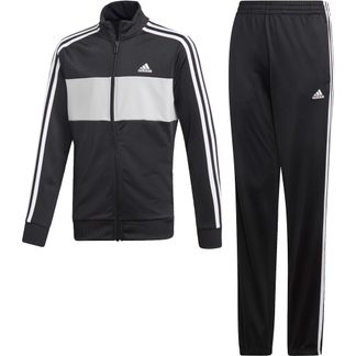 adidas - Tiberio Trainingsanzug Jungen black grey two white