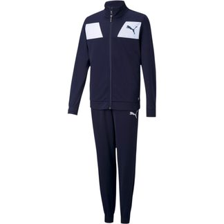 Puma - Polyester Track Suit Kids peacoat