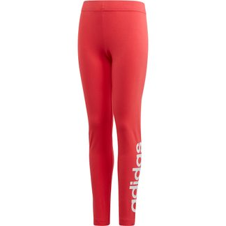adidas - Essentials Linear Tights Girls core pink white