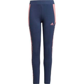 adidas - Designed To Move Leopard Tights Girls crew navy hazy rose