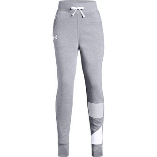 Under Armour - Rival Flecce Joggers Girls steel light heather