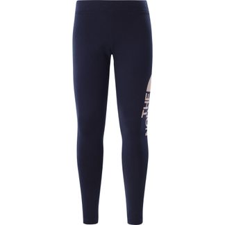 The North Face® - Cotton Blend Leggings Big Logo Girls tnf navy