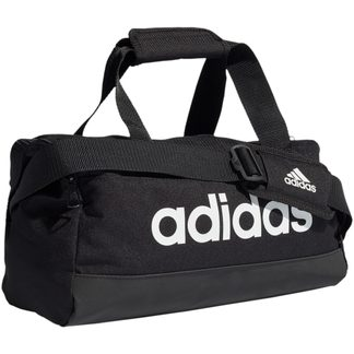 adidas - Essentials Logo Duffel Bag XS black white
