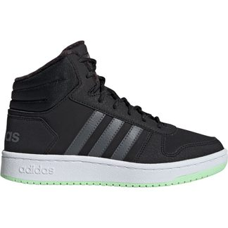 adidas - Hoops 2.0 Mid Basketball Shoes Kids core black grey six grey four