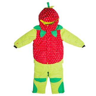 Flashy Stars - Strawberry Snow Suit 2-Parts Kids green-red