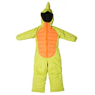 Flashy Stars - Dino Snowsuit Kids green