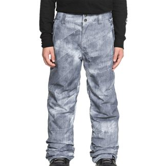 Quiksilver - Estate Youth Ski Pants Boys grey simple texture