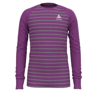 Odlo - Active Warm Eco Longsleeve Kinder hyacinth violet grey melange