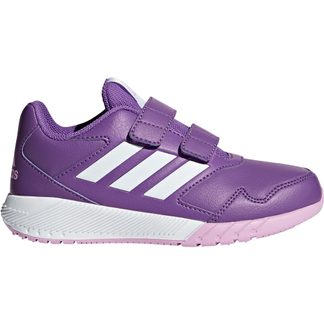 adidas - AltaRun CF K Running Shoes Kids ray purple footwear white clear lilac