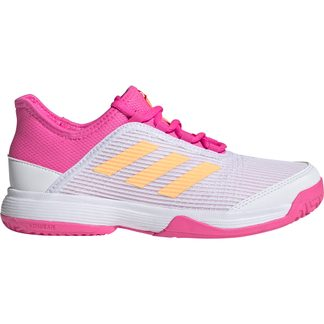 adidas - Adizero Club Tennis Shoes Kids footwear white acid orange screaming pink