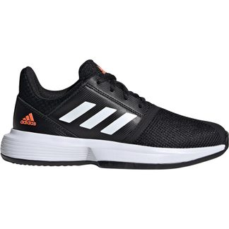 adidas - CourtJam Tennis Shoes Kids core black footwear white hi-res coral