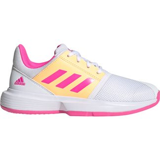 adidas - CourtJam Tennis Shoes Kids footwear white screaming pink acid orange