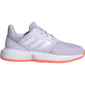 adidas - CourtJam Tennis Shoes Kids purple tint footwear white signal coral