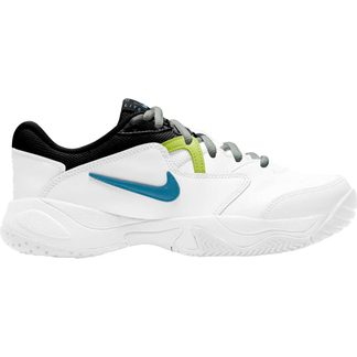 Nike - Court Junior Lite 2 Tennis Shoes Kids white neo turquoise hot lime light smoke