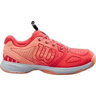 Wilson - Kaos Jr. QL Tennis Shoes Kids cayenne papaya india ink
