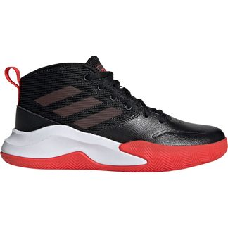 adidas - Own the Game Wide Basketball Shoes Kids core black active red footwear white