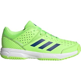 adidas - Court Stabil Handballschuhe Kinder signal green team royal blue footwear white