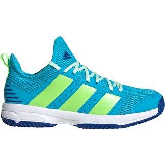 adidas - Stabil Indoor Shoes Kids signal cyan signal green team royal blue