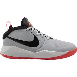 Nike - Team Hustle D9 Basketballschuhe (GS) Kinder light smoke grey black laser crimson
