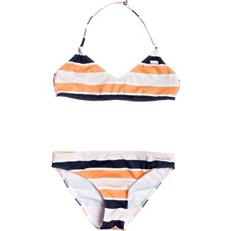 Roxy - Made For ROXY Bralette Bikini Set Girls cadmium orange pong stripes
