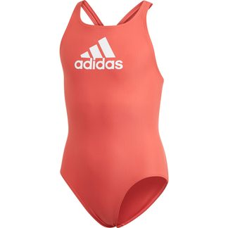 adidas - Badge of Sport Badeanzug Mädchen glory red white