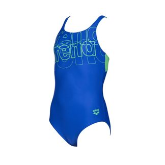 Arena - Spotlight Swim Pro Back Kinder neon blue golf green