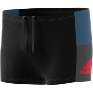 adidas - Fitness Colorblock Boxer-Badehose Jungen black tech ink grey six