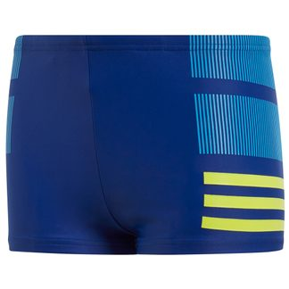 adidas - Rubber Graphic Swim Boxer mystery ink semi solar yellow bright blue